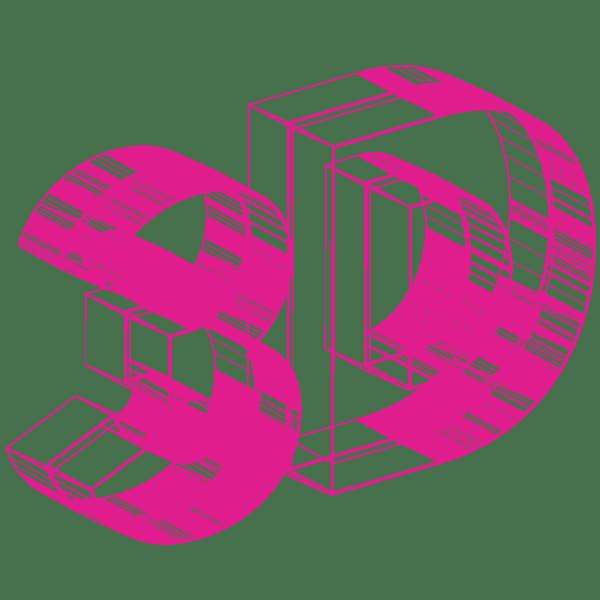 3D-magenta-objet-réalité-augmentée